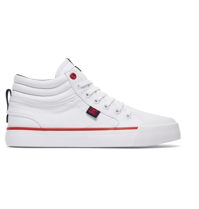 0 Women's Evan Hi TX Shoes White ADJS300178 DC Shoes