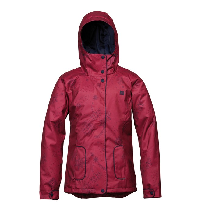0 Women's Data Snowboard Jacket Red ADJTJ00005 DC Shoes
