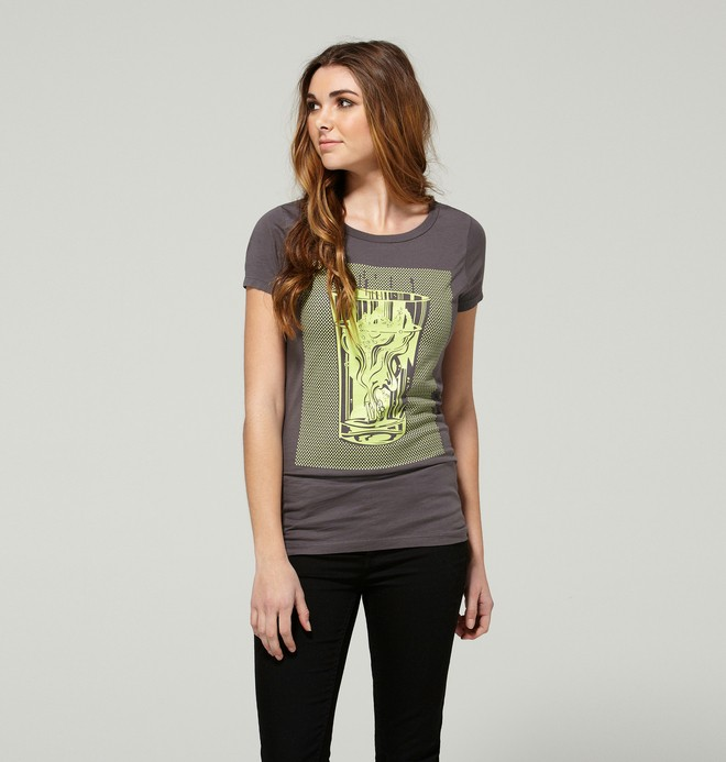 0 Women's Poptomistic Tee  ADJZT00045 DC Shoes