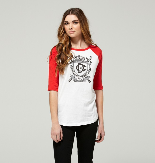 0 Women's Teaser Raglan Tee  ADJZT00061 DC Shoes