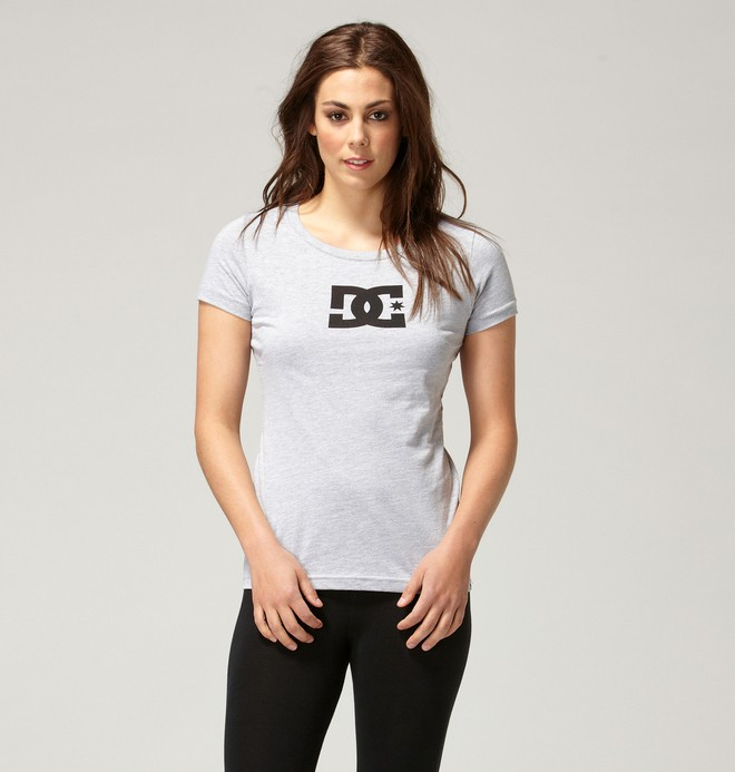 0 TStar E SS Tee Grey ADJZT00065 DC Shoes