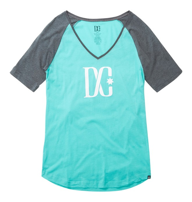 0 TStar Raglan Tee Green ADJZT00111 DC Shoes