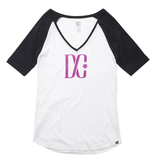 0 TStar Raglan Tee White ADJZT00111 DC Shoes