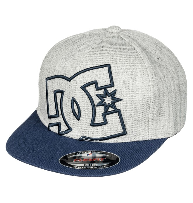 0 Kid's 2-7 Ya Heard Flexfit Hat Blue ADKHA03001 DC Shoes