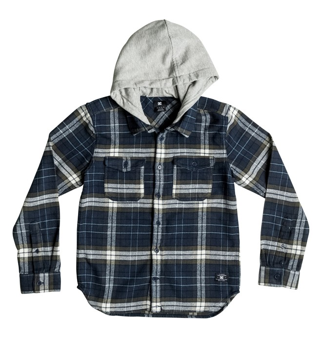 0 Boy's 2-7 Runnels Flannel Hooded Long Sleeve Shirt  ADKWT03000 DC Shoes