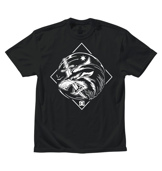 0 Boy's Lone Wolf Tee  ADKZT00046 DC Shoes