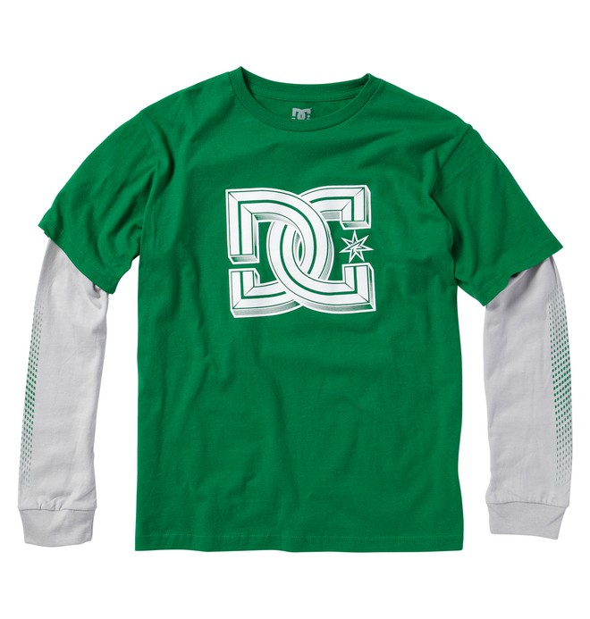 0 Boy's Krossed 2Fer Tee  ADKZT00055 DC Shoes