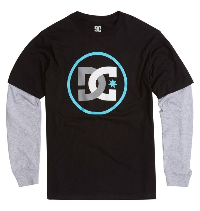 0 Boy's Track 2Fer Tee  ADKZT00122 DC Shoes