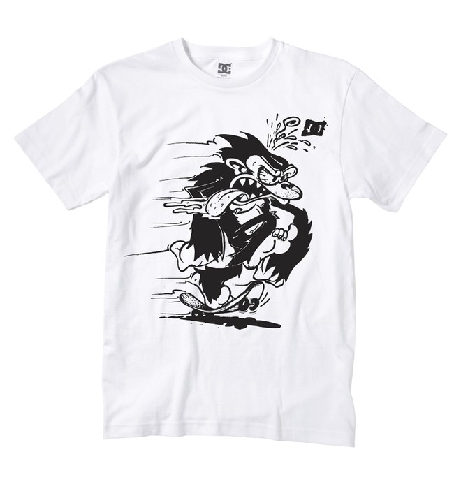0 Boy's Skate Monkey Tee  ADKZT00157 DC Shoes