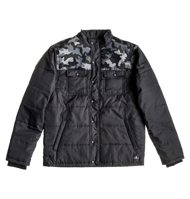 0 Men's Hudson Jacket Black ADMJK00000 DC Shoes