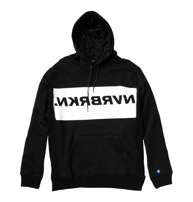 0 Men's NVRBRKN. Ligature Pullover Hoodie Black ADMKT00000 DC Shoes