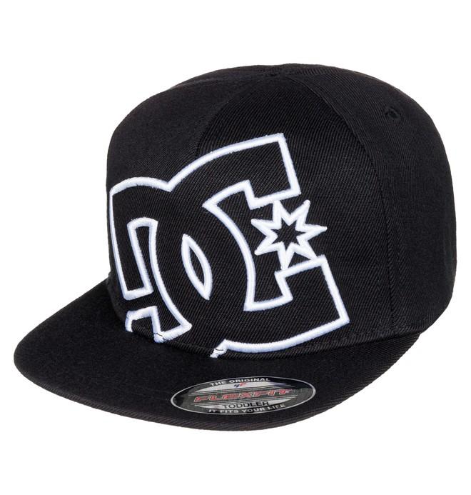 0 Kid's 2-7 Ya Heard Flexfit Hat Black ADTHA03000 DC Shoes