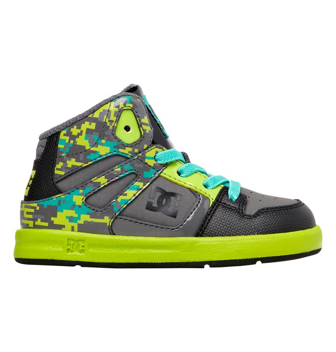 0 Toddler's Rebound SE UL High-Top Shoes Green ADTS700021 DC Shoes
