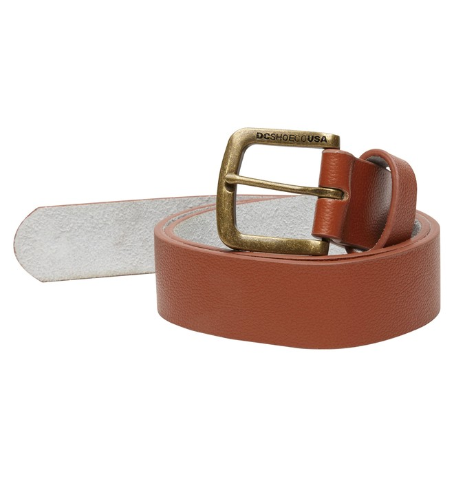 0 Men's Star Leather Belt Brown ADYAA00021 DC Shoes
