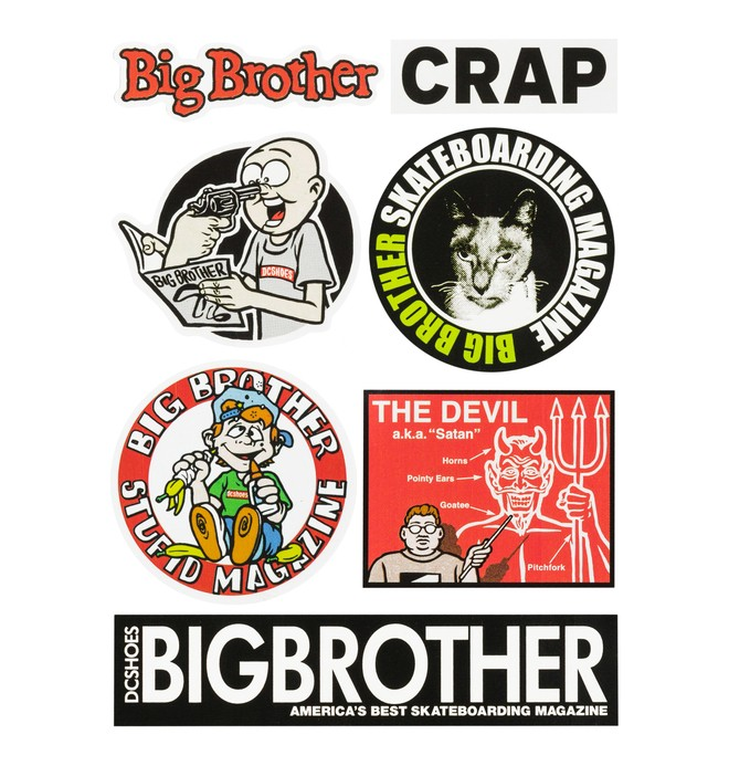 0 Big Brother - Sticker Pack  ADYAA03037 DC Shoes
