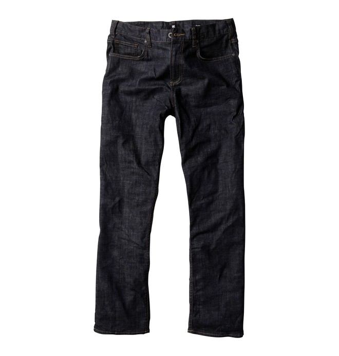 "0 Men's Relaxed Fit 34"" Inseam Jeans Blue ADYDP00005 DC Shoes"
