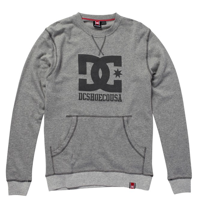 0 Men's Rob Dyrdek Official Crew-Neck Sweatshirt Grey ADYFT00015 DC Shoes