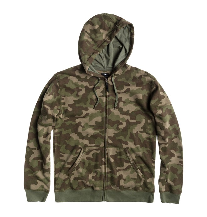 0 Men's Print Party Full Zip Hoodie  ADYFT00079 DC Shoes