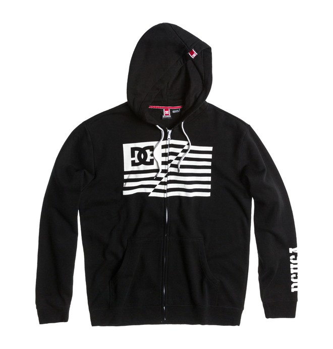 0 Men's Rob Dyrdek Flag Hoodie Black ADYFT00094 DC Shoes