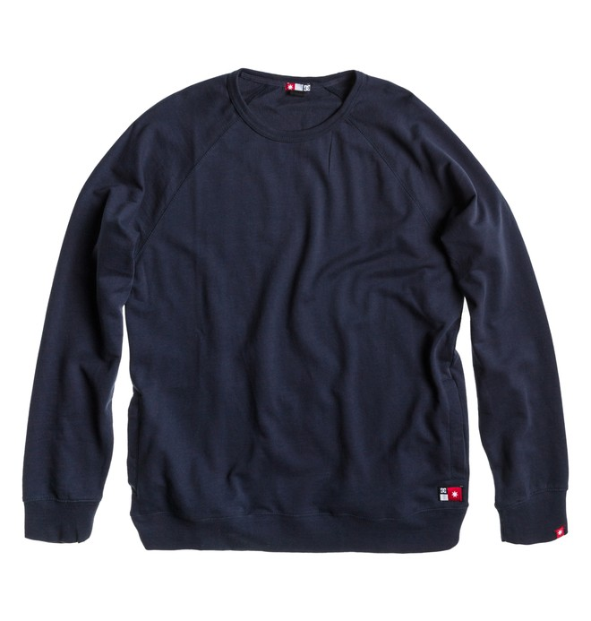0 Men's Core Crew Sweatshirt Blue ADYFT00100 DC Shoes