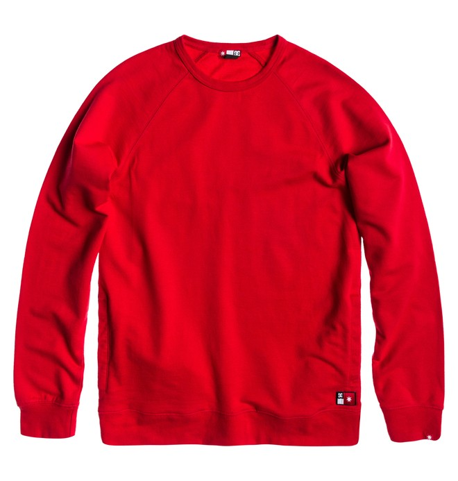 0 Men's Core Crew Sweatshirt Red ADYFT00100 DC Shoes