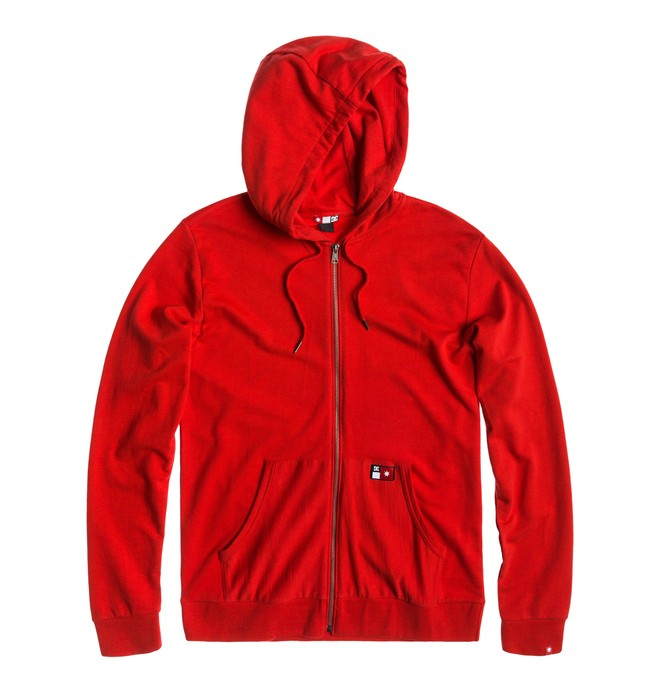 0 Men's Core Zip Sweatshirt Red ADYFT00101 DC Shoes