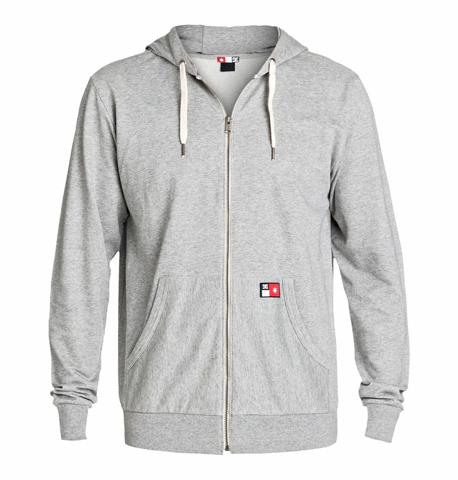 0 Men's Core Zip Sweatshirt Grey ADYFT00101 DC Shoes