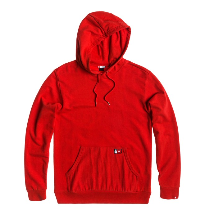 0 Men's Core Pullover Sweatshirt Red ADYFT00102 DC Shoes