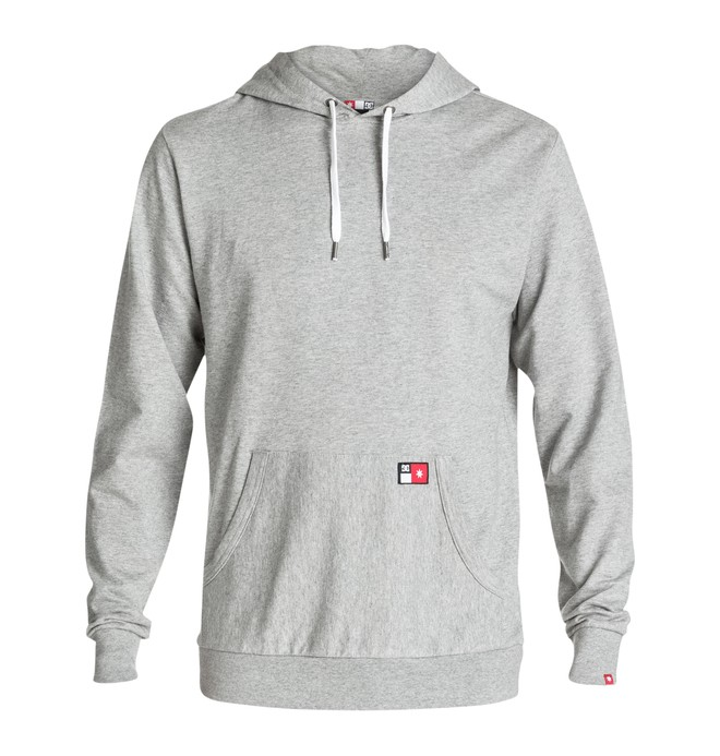 0 Men's Core Pullover Sweatshirt Grey ADYFT00102 DC Shoes