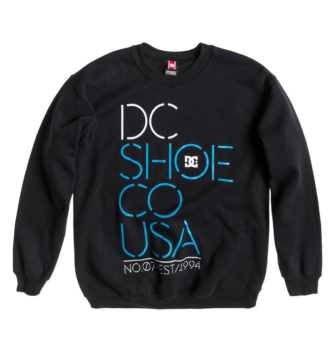 0 Men's Rob Dyrdek Highlight Stencil Sweatshirt Black ADYFT00106 DC Shoes