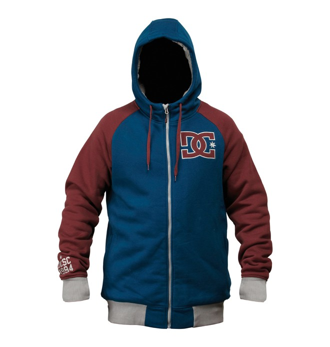 0 Men's Kozak Zip Hoodie Blue ADYFT00140 DC Shoes