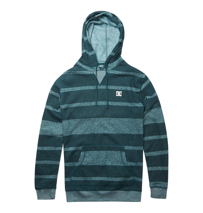 0 Men's Rebel Stripe Hoodie Green ADYFT00238 DC Shoes