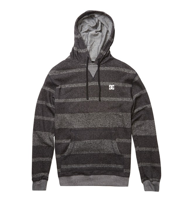 0 Men's Rebel Stripe Hoodie Black ADYFT00238 DC Shoes