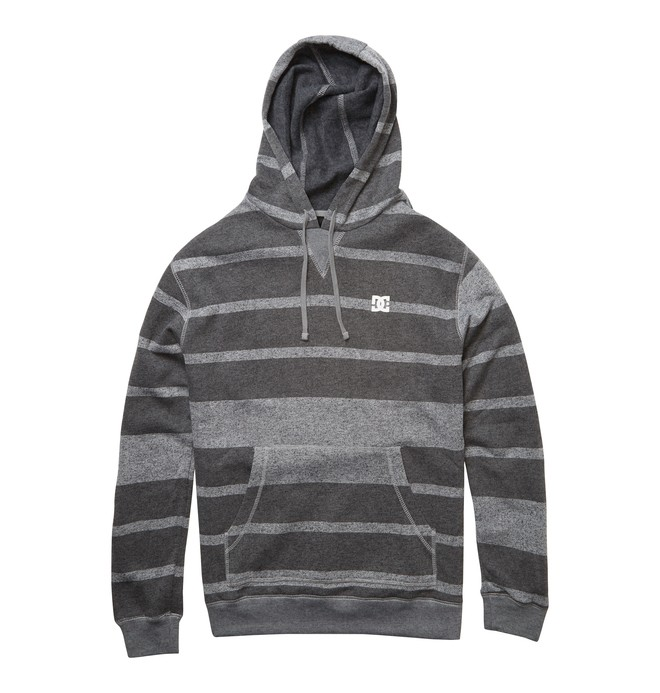 0 Men's Rebel Stripe Hoodie Grey ADYFT00238 DC Shoes