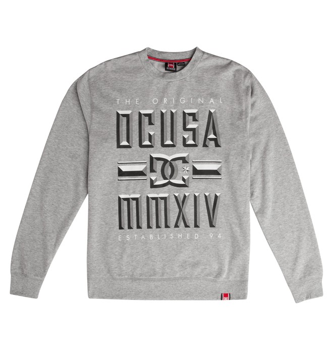 0 Men's Rob Dyrdek Bevel Crew Sweatshirt  ADYFT00263 DC Shoes