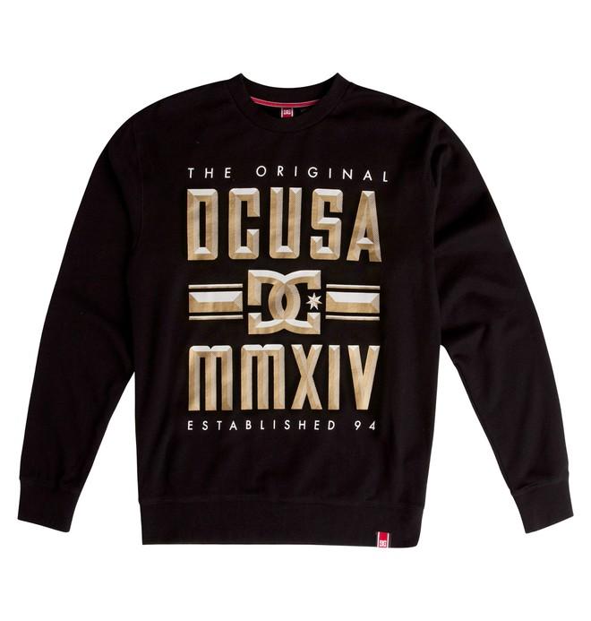0 Men's Rob Dyrdek Bevel Crew Sweatshirt Black ADYFT00263 DC Shoes