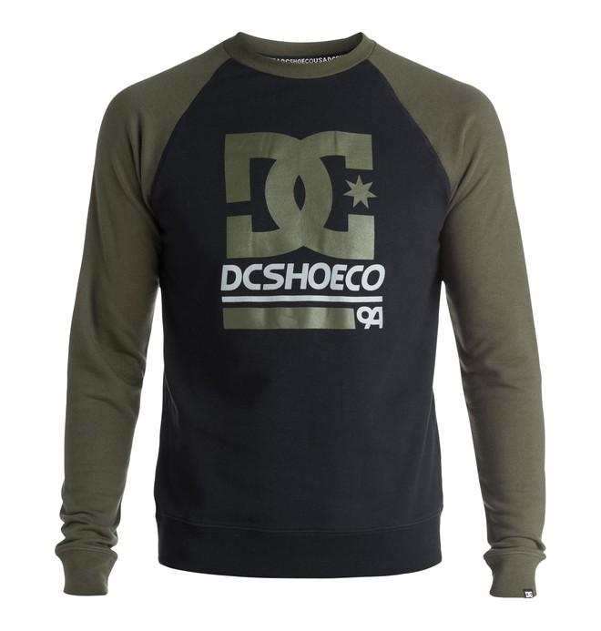 0 Men's DC Rail Raglan Sweatshirt  ADYFT03150 DC Shoes