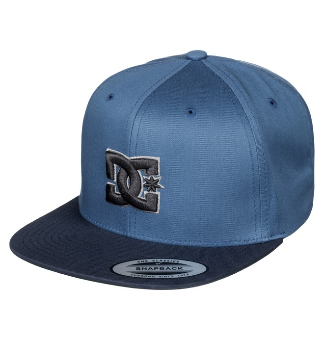 0 Men's Snappy Snapback Hat Blue ADYHA00058 DC Shoes