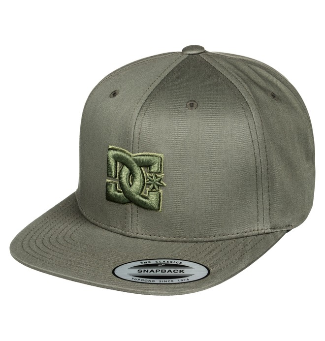 0 Men's Snappy Snapback Hat Brown ADYHA00058 DC Shoes