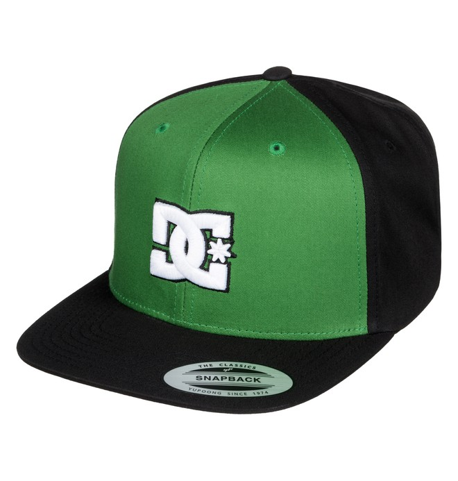 0 Men's Snappy Snapback Hat Green ADYHA00058 DC Shoes