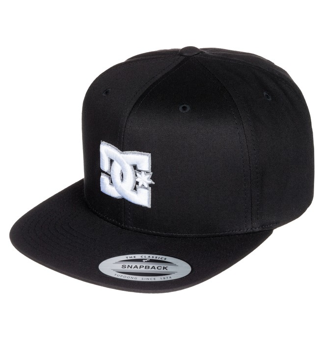0 Men's Snappy Snapback Hat Black ADYHA00058 DC Shoes