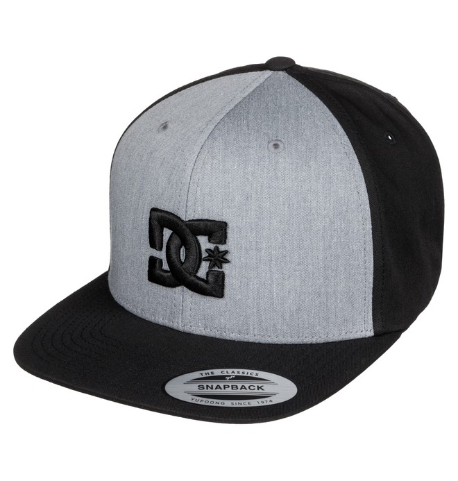 0 Men's Snappy Hat Grey ADYHA00058 DC Shoes