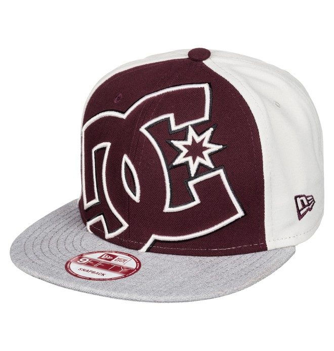 0 Men's Double Up Snapback Hat Red ADYHA00277 DC Shoes