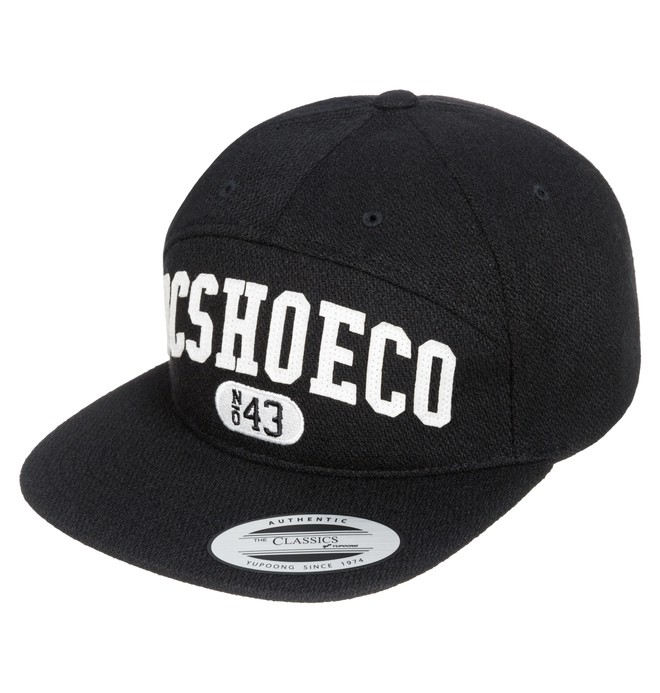0 Men's Archers 5-Panel Arch Shape Hat Black ADYHA03104 DC Shoes