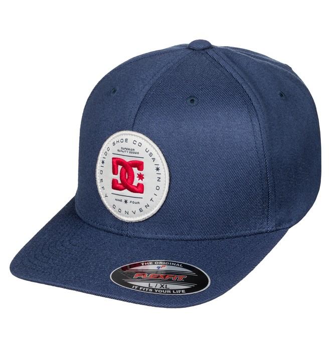 0 Men's Aleborn Flexfit Hat Blue ADYHA03304 DC Shoes