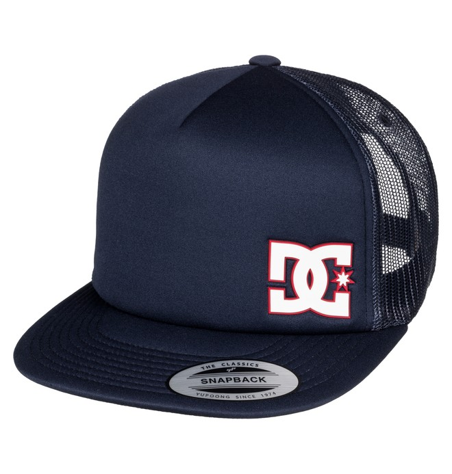 0 Men's Madglads Trucker Hat Blue ADYHA03386 DC Shoes