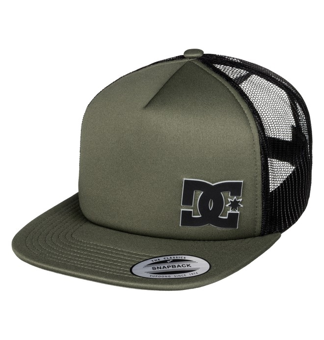 0 Men's Madglads Trucker Hat Green ADYHA03386 DC Shoes