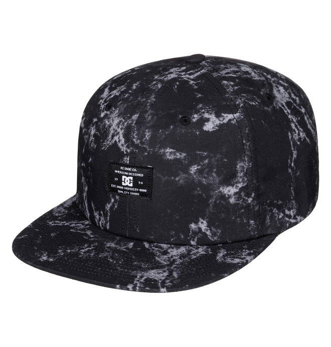 0 Men's Filth Snapback Hat Black ADYHA03419 DC Shoes