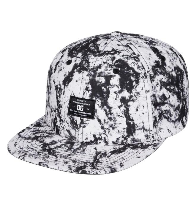 0 Men's Filth Snapback Hat White ADYHA03419 DC Shoes
