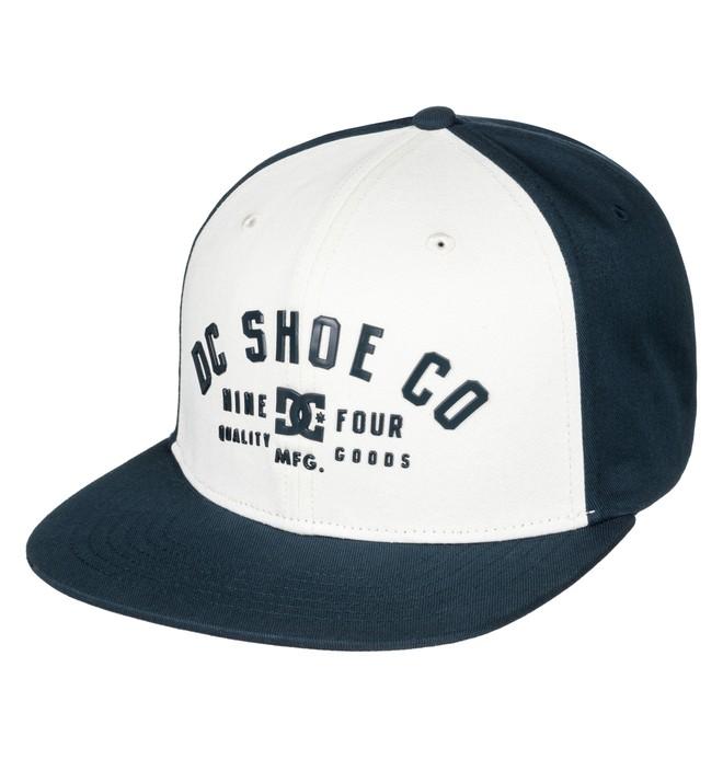 0 Men's Garver Snapback Hat White ADYHA03426 DC Shoes